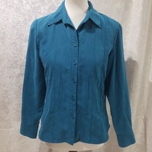 Teal Buttondown Top
